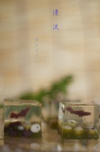 和菓子 清き水に泳ぐ鮎